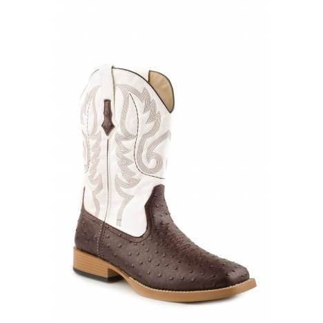 Roper Men's Bumps Faux Leather Boot - Brown/White