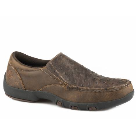 Roper Men's Owen Slip On Shoe - Vintage Brown