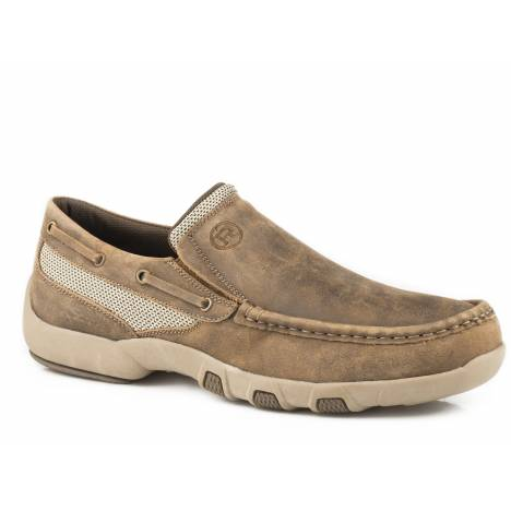 Roper Men's Docks Slip On Shoe - Vintage Brown