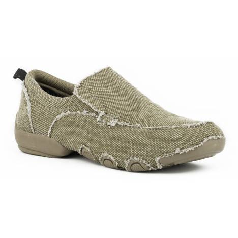Roper Men's Canvas Driving Moc - Tan