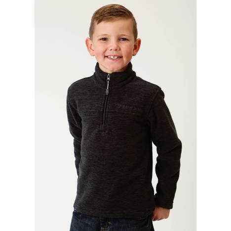 Roper Boys Micro Fleece Pullover Jacket-Grey