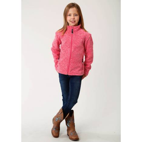 Roper Girls Rangegear Light Weight Micro Fleece Jacket - Cationic Pink