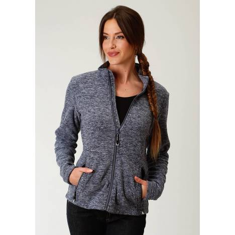 Roper Ladies Navy Blue Micro Fleece Jacket