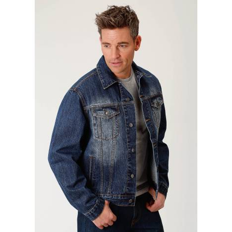 Roper Men's Rangegear Denim Jean Jacket - Blue