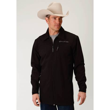 Roper Men's Bonded Softshell Barn Jacket - Black