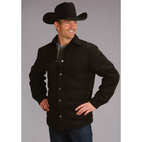 Stetson Men's Canvas Shirt Jacket - Black