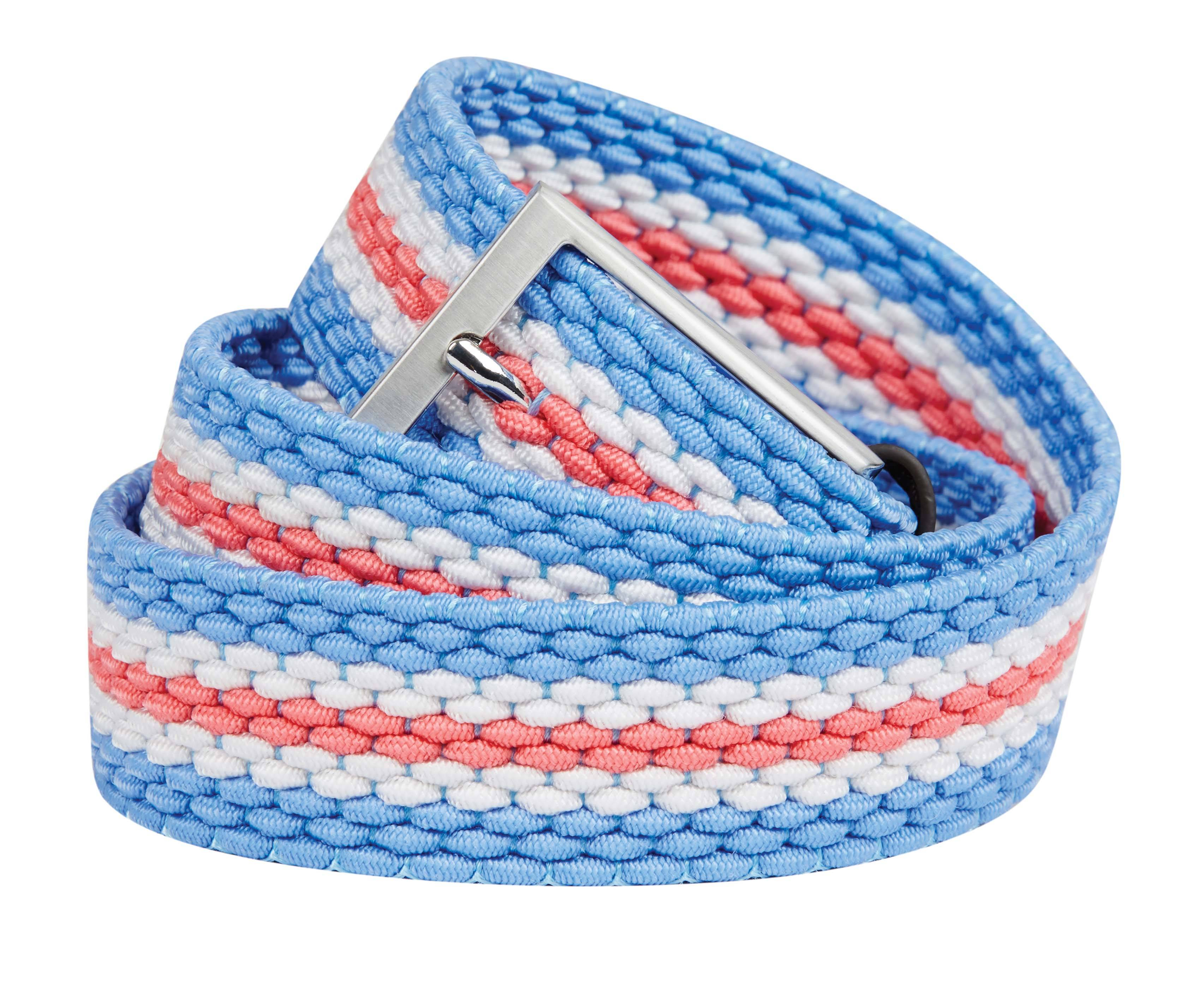 Dublin Mayfair Cotton Wax Braided Belt with Leather Look Detailing