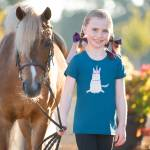 Irideon Kids Unicorn Tee - Baltic Blue - Small