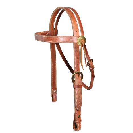 Al Dunning By Professionals Choice Heavy Brow Snaffle Headstall