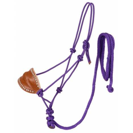 Tough-1 Poly Rope Halter with Horsehair Bronc Nose & Lead
