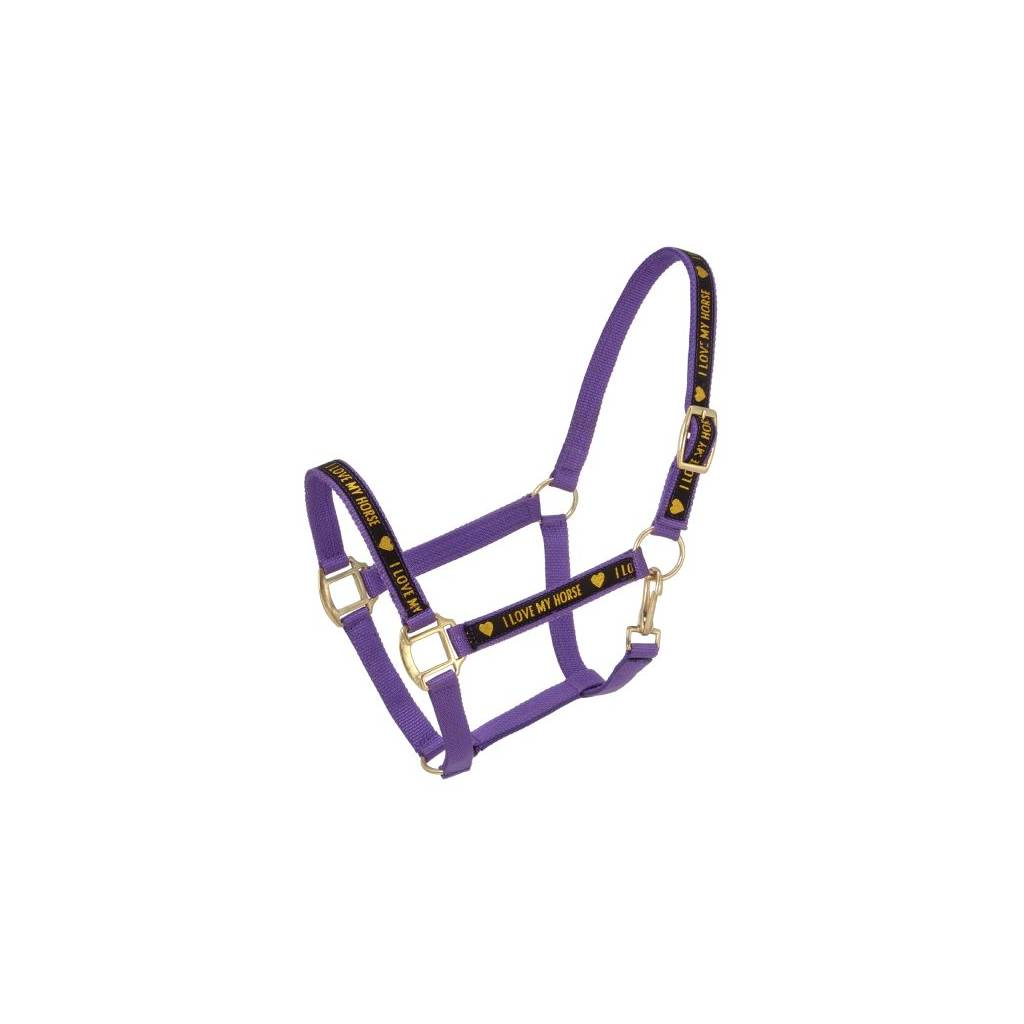 Tough-1 I Love My Horse'' Nylon Halters