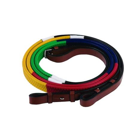 Henri de Rivel Training Reins - Rainbow