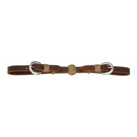 Royal King Leather Curb Strap with Rawhide Ball