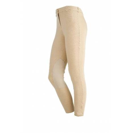 On Course Ladies Cotton Natural Front Zip Breeches