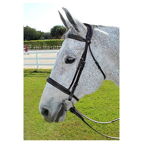 Henri de Rivel Pro Stress Free Fancy Bridle With Patent Piping