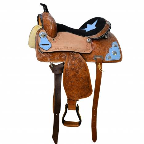 SEDONA Western Saddle with Tooling and Star Accents