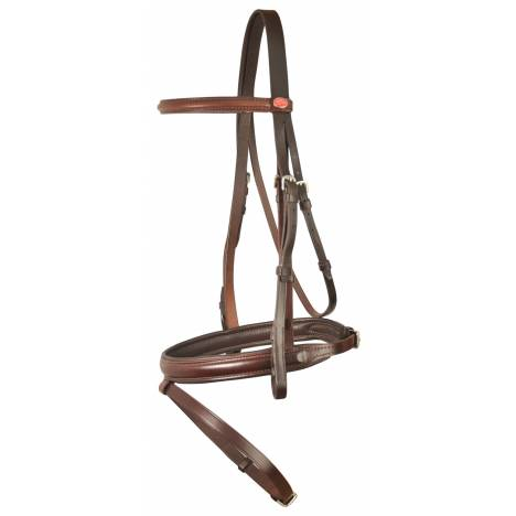 Courbette Plain Raised Self Padded Bridle with Flash Noseband