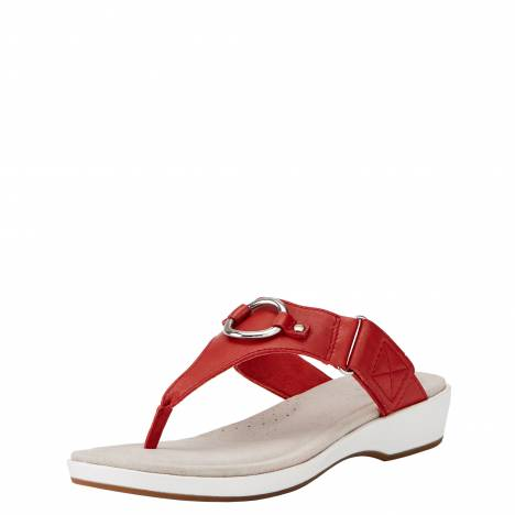 Ariat Ladies Pool Side Sandals - Chili Red