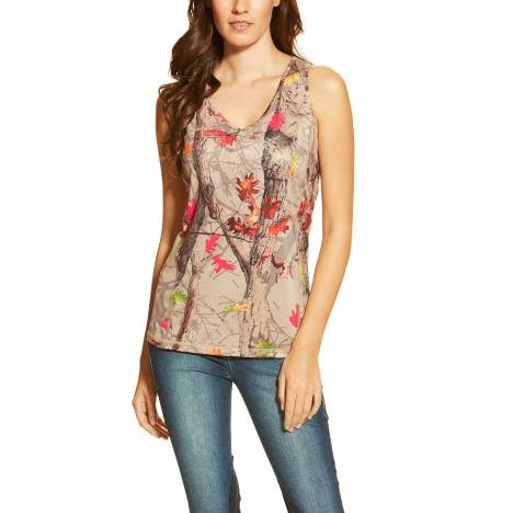Ariat Ladies Gazelle AC Tank Top - Hot Leaf