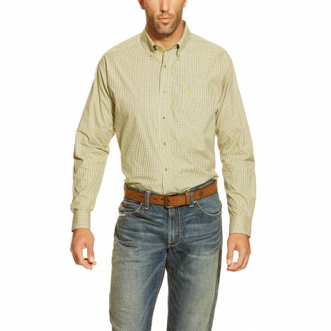 Ariat Mens Galvyn Long Sleeve Performance Shirt - Green Current
