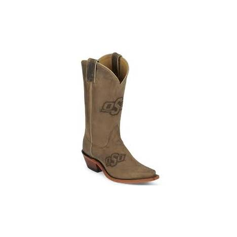 Nocona Boots Ladies Oklahoma State Cowhide Branded Cowboy Boots