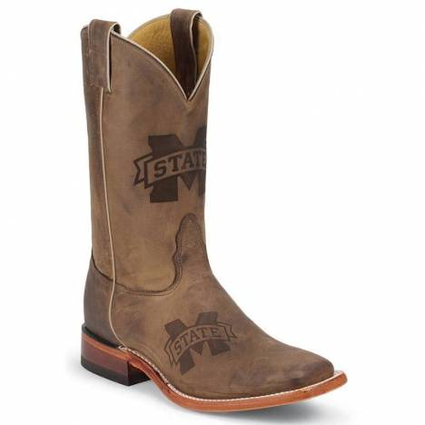 Nocona Boots Men's Mississippi State Branded Cowboy Boots