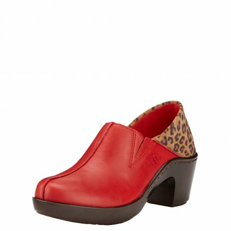 Ariat Ladies Kickback Clogs - Chili Red