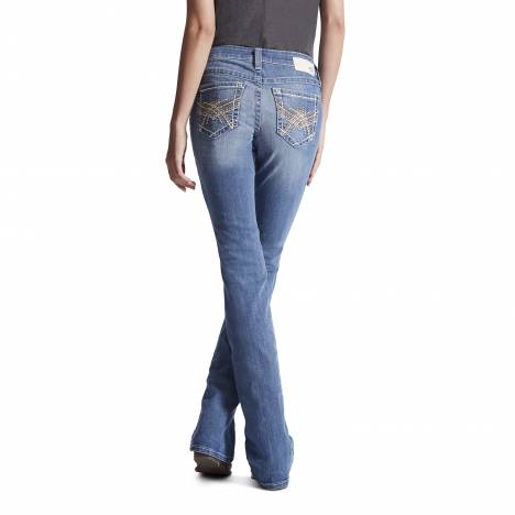 Ariat Ladies Turquoise Iconic A Jeans - Ombre Azure