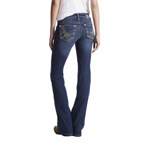 Ariat Ladies Turquoise Stacked A Jeans - Marine