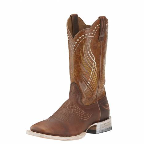Ariat Mens Mecate Boots - Rusted Wire/Yellow Appy