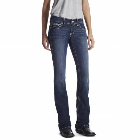 Ariat Ladies Real Low Rise Rosy Whpstch Jeans - Lakeshore