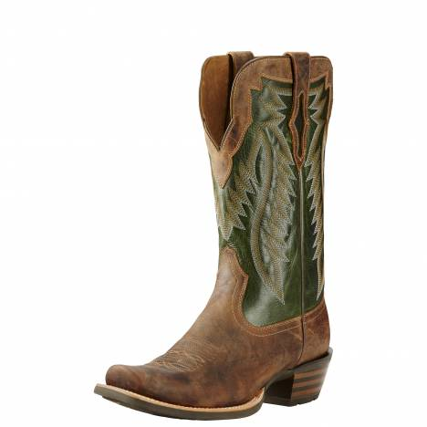 Ariat Mens Futurity - Branding Iron Tan/Neon Lime