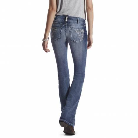 Ariat Ladies R.E.A.L. Low Rise Boot Cut Cortez Jeans - Moonstone
