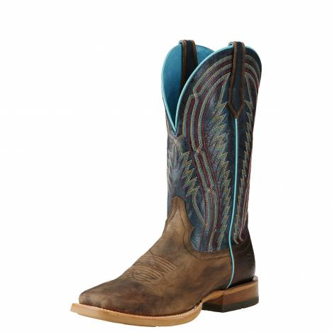 Ariat Mens Chute Boss Western Boots - Branding Iron Brown/Blue