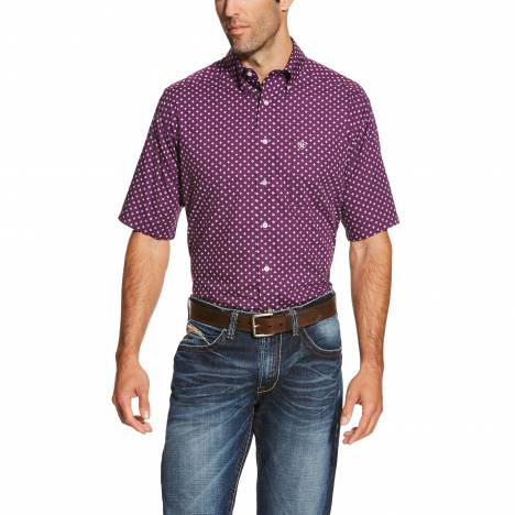 Ariat Mens Fonzie Short Sleeve - Vagabond Purple