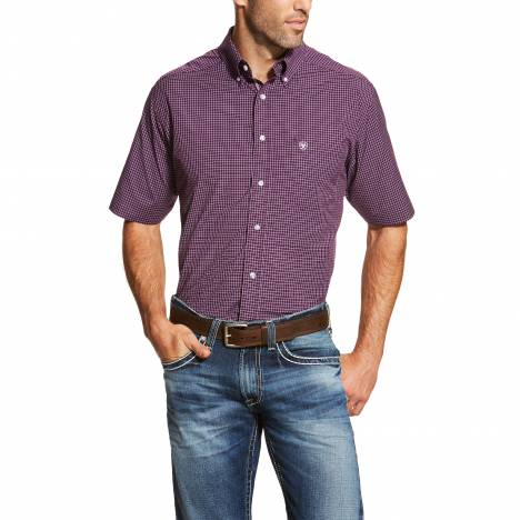 Ariat Mens Freddy Short Sleeve Performance Shirt - Vagabond Purple