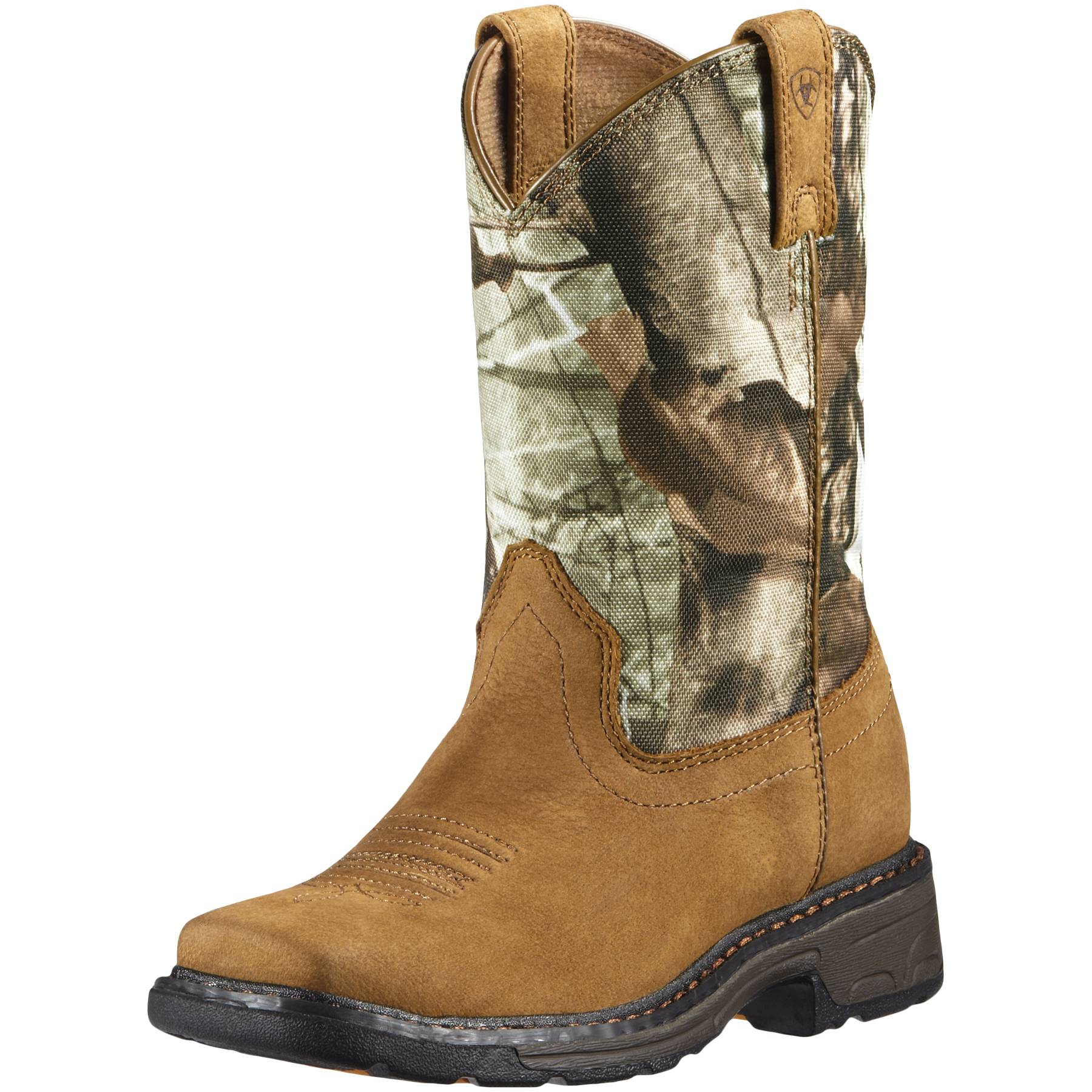 Kids Workhog Wide Square Toe Tall Work Boot