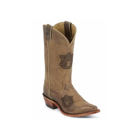 Nocona Boots Ladies Auburn Cowhide Branded Cowboy Boots