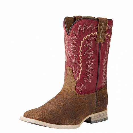 Ariat Kids RLS Elite - Tan Oiled Gaucho/Arena Red