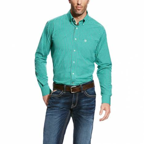 Ariat Men's Decker Long Sleeve Pro Series Fitted - Holly Green