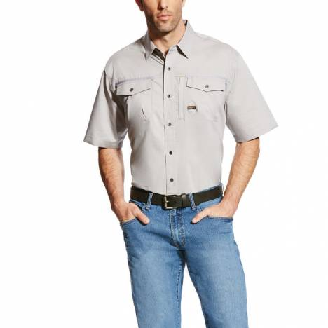 Ariat Men's Rebar Short Sleeve Work Shirt - Alloy