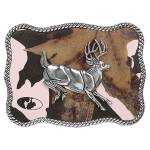Nocona Mossy Oak Pink Jumping Buck Belt Buckle