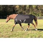 WorldBeater 1200D Waterproof Turnout Blankets - Black with Silver - 93