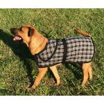 Tuffrider Plaid Dog Blanket - Black/Grey Plaid - Medium