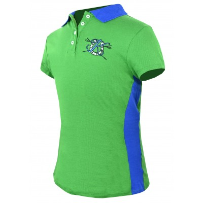 KAKI Signature Polo - Green with Blue - 8