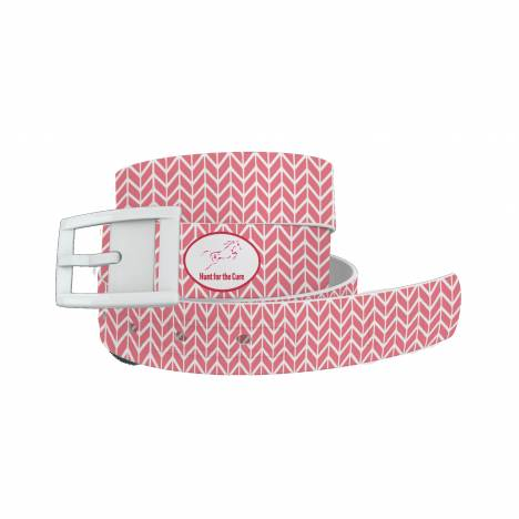 C4 Belt Hunt for the Cure Herringbone Belt with White Buckle Combo