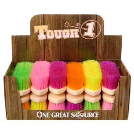12 Pack Assorted Soft Poly Bristle Brush Bright Colors
