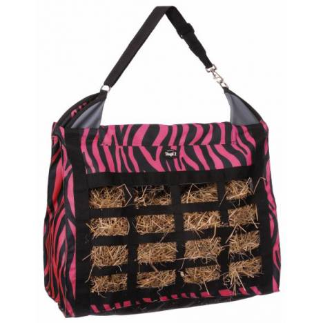 Tough-1 Heavy Denier Nylon Hay Tote with Dividers - Zebra