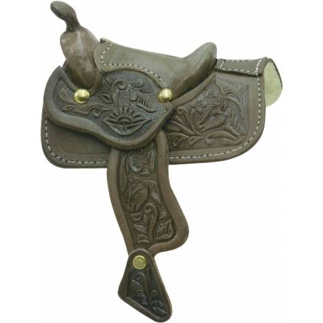 Minature Tooled Western Saddle
