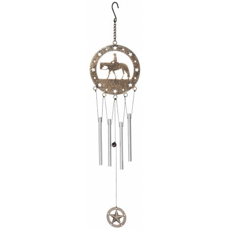 Tough-1 Wind Chime With Equine Motif - Western Pleasure